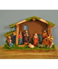 Traditional Wooden Christmas Nativity Scene by Premier