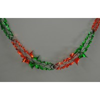 Green and Red Christmas Foil Hanging Garland Decoration (2.7m) by Premier