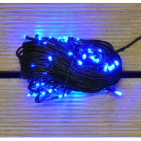100 LED Blue Supabright Christmas String Lights (Mains) by Premier
