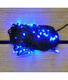 100 LED Blue Supabright Christmas String Lights (Mains)