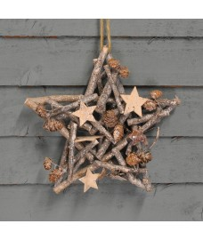 Decorative Wooden Christmas Star by Premier