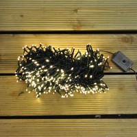480 LED Warm White Cluster Supabright String Lights (Mains) by Premier