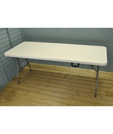 White Folding Trestle Table (180cm)