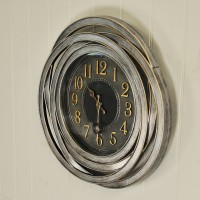Ripley Contemporary Wall Clock (50cm) by Smart Garden