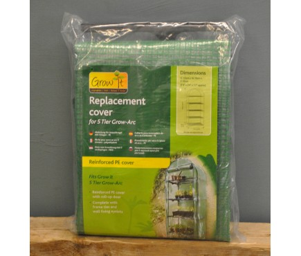 5 Tier Grow Arc Reinforced Replacement Cover by Gardman