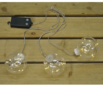 3 Warm White LED Globes (Battery) by Premier