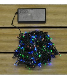 400 LED Multi Colour Timer Function String Lights (Battery) by Premier