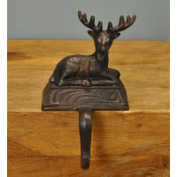 Reindeer Cast Iron Christmas Stocking Hanger