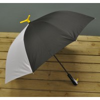 Black and White Umbrella with Penguin Design by Fallen Fruits