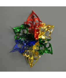 Multi Coloured Hanging Foil Christmas Decoration by Premier