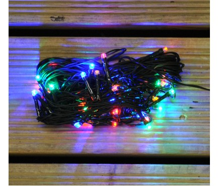 40 LED Multi Coloured Supabright String Lights (Mains) by Premier