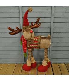 Plush Telescopic Reindeer Christmas Decoration (95cm) by Kingfisher