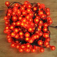 200 LED Large Red Berry Christmas Lights (Mains) by Kingfisher