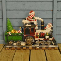 Christmas Train with Santa & Snowman by Kingfisher