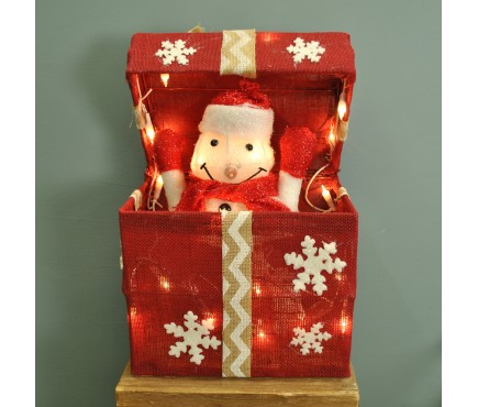 Pop Up Snowman Christmas Present with 20 LEDs by Kingfisher