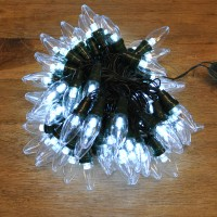 80 LED Bright White Multi-Action Large Bulb String Lights (Mains) by Kingfisher
