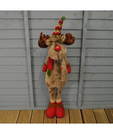 Plush Standing Reindeer Christmas Decoration (85cm) by Kingfisher