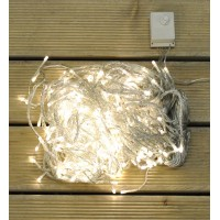 360 Warm White LED Christmas Supabrights Snowing Icicle Lights by Premier