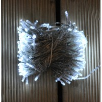 200 LED White Supabright String Lights with Clear Cable (Mains) by Premier