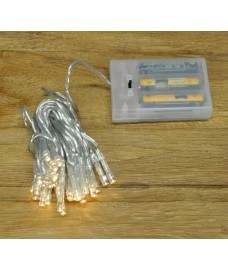 35 Static & Flashing Superbright LED Warm White String Lights (Battery) by Premier