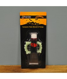 Glow in the Dark Vampire Fangs with Fake Blood by Premier