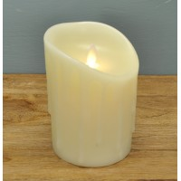 Battery Operated LED Dancing Flame Melting Edge Effect Candle - 13cm by Premier
