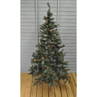 6ft (180cm) Green Whistler Artificial Christmas Tree with Pine Cones by Gardman