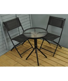 Portland Garden Bistro Set - Dark Grey