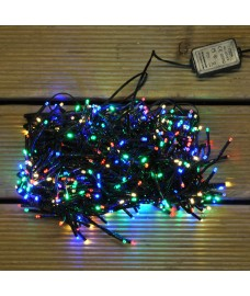 480 LED Multi-Coloured Cluster Supabright String Lights (Mains) by Premier
