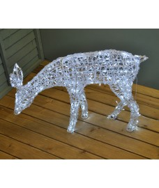 Grazing Reindeer Free Standing Light (90cm) by Premier