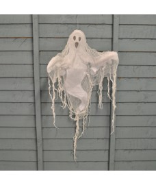 Hanging Ghost with Light Up Face Halloween Decoration by Premier