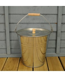 Galvanised Steel Bucket with Lid by Garden Trading