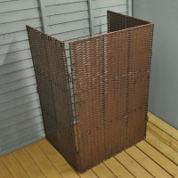 Rattan Effect Wheelie Bin Screen (Single)