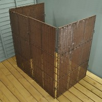 Rattan Effect Wheelie Bin Screen (Double)