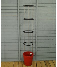 Self Watering Grow Pot Tower in Red by Garland
