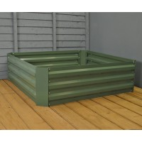 Metal Raised Vegetable Bed in Green (100cm x 30cm)