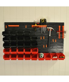 44 pcs Wall Mounted DIY Tool Storage Panel Rack