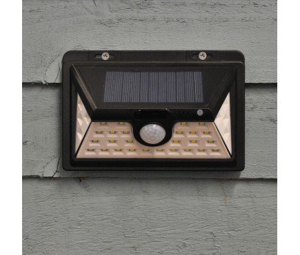 450 Lumens Solar Security PIR Light in Black (34 LEDs)