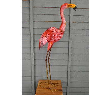 Metal Silhouette Flamingo Ornamental Light (Solar)