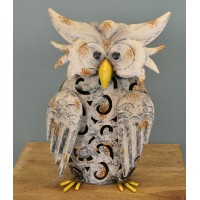 Metal Silhouette Owl Garden Ornamental Light (Solar)