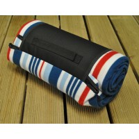 Picnic Blanket with Red, White and Blue Stripes (200cm x 150cm)