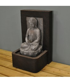 Tranquil Sitting Buddha Outdoor Water Feature (Mains)