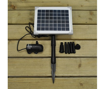 5 Watt Solar Water Pump Fountain Kit