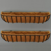 Set of 2 x Blacksmith Wall Trough Planters (90cm)