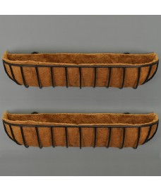 Set of 2 Manor Wall Trough Planters (90cm)