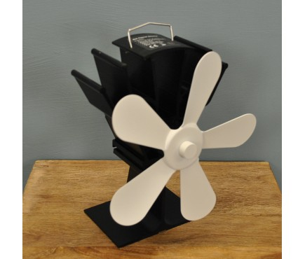 Heat Powered Stove Fan with Cream Blades