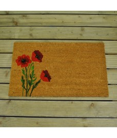 Poppies Design Coir Doormat by Gardman