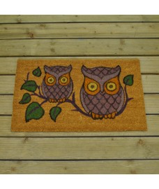 Owls Design Coir Doormat by Gardman