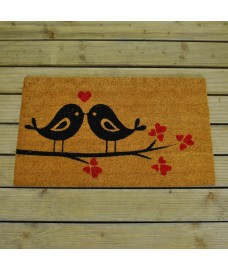 Love Birds Coir Doormat by Gardman