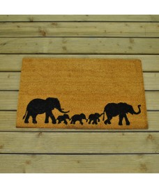 Elephant Family Coir Doormat by Gardman